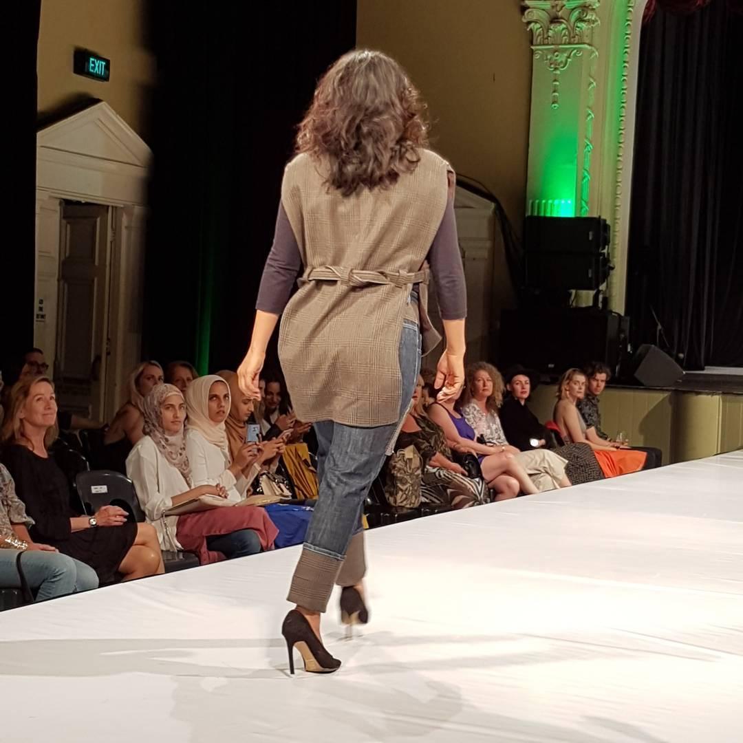 Upcycle man's tailored jacket - EFWA runway 2, credit Textile Beat